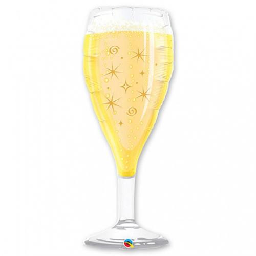 шарик гелиевый в виде бокала с шампанским в Москве