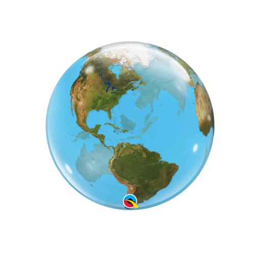 Гелиевый шар в форме Земли. Заказ и доставка в Москве