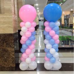 Как сделать колонну или гирлянду из воздушных шаров своими руками