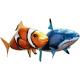 Рыба на пульте управления с гелием, летающая