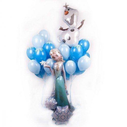 Букет шаров, композиция ХОЛОДНОЕ СЕРДЦЕ