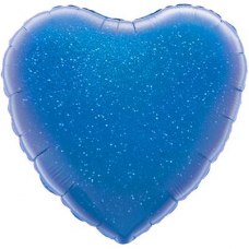 ШАР-СЕРДЦЕ 46 см Голубой-halo