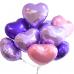 фольгированный шар сердце сиреневый в магазине МимоДутти