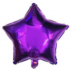 ШАР-ЗВЕЗДА 46 см Фиолетовый