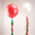 Шары с оформлением кистями, гирляндами. Заказ шаров в Москве. Мимо Дутти