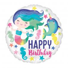 КРУГ С РУСАЛКОЙ Happy Birthday