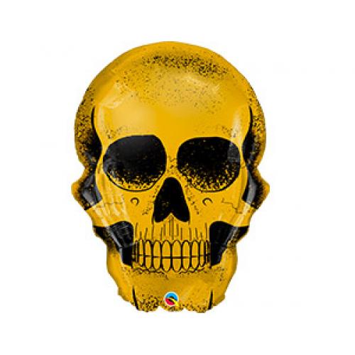 Огромный 92 см шар с гелием череп на Хеллоуин